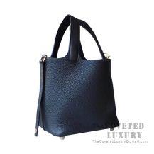 Hermes Picotin Lock 18 Bag 89 Noir Clemence GHW