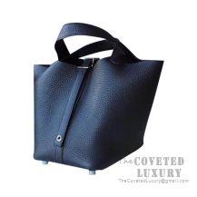 Hermes Picotin Lock 18 Bag 89 Noir Clemence SHW