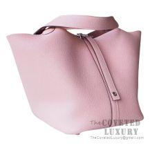 Hermes Picotin Lock 22 Bag 3Q Rose Sakura Clemence SHW