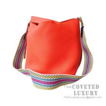 Hermes Picotin Lock 22 Bag 8V Orange Poppy Clemence SHW