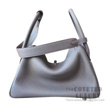 Hermes Lindy 26 Bag 8F Etain And 7T Blue Electric Clemence SHW