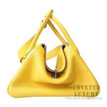 Hermes Lindy 26 Bag 9H Soleil Clemence SHW