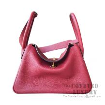 Hermes Lindy 26 Bag CC55 Rouge H Clemence GHW