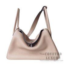 Hermes Lindy 26 Bag CC81 Gris Tourterelle Clemence SHW
