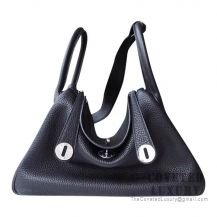 Hermes Lindy 26 Bag 89 Noir Clemence SHW