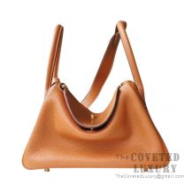 Hermes Lindy 26 Bag CC37 Gold And K1 Rouge Grenat Clemence GHW