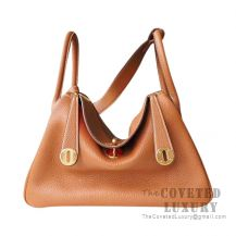 Hermes Lindy 26 Bag CC37 Gold And S5 Rouge Tomate Clemence GHW