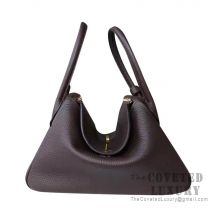 Hermes Lindy 26 Bag CC47 Chocolate Clemence GHW