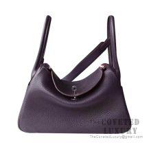 Hermes Lindy 26 Bag CC59 Raisin Clemence SHW