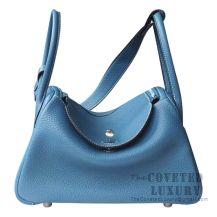 Hermes Lindy 26 Bag CC75 Blue Jean Clemence SHW
