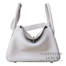 Hermes Lindy 26 Bag CC80 Pearl Grey Clemence SHW