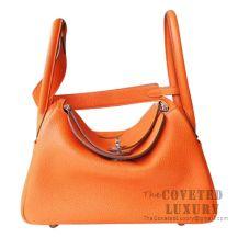 Hermes Lindy 26 Bag CC93 Orange Clemence SHW