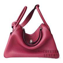 Hermes Lindy 26 Bag K1 Rouge Grenat Clemence GHW
