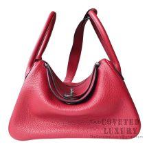 Hermes Lindy 26 Bag K1 Rouge Grenat Clemence SHW