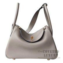 Hermes Lindy 26 Bag M8 Gris Asphalt Clemence GHW