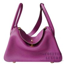 Hermes Lindy 26 Bag P9 Anemone Clemence GHW
