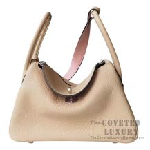 Hermes Lindy 26 Bag S2 Trench And 3Q Rose Sakura Clemence SHW
