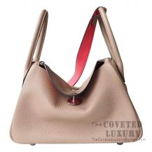 Hermes Lindy 26 Bag S2 Trench And 8W Rose Azalee Clemence SHW