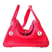 Hermes Lindy 26 Bag S5 Rouge Tomate Clemence SHW