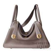 Hermes Lindy 26 Bag CC18 Etoupe Clemence GHW