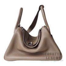 Hermes Lindy 26 Bag CC18 Etoupe Clemence SHW