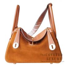 Hermes Lindy 26 Bag CC37 Gold Swift And Grizzly GHW