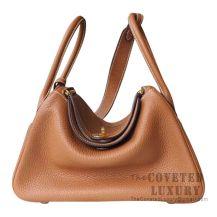 Hermes Lindy 30 Bag CC37 Gold Clemence GHW