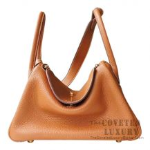 Hermes Lindy 30 Bag CC37 Gold And K1 Rouge Grenat Clemence GHW