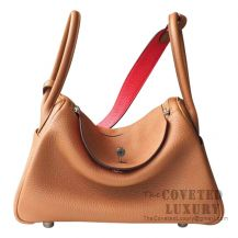 Hermes Lindy 30 Bag CC37 Gold And S3 Rouge De Coeur Clemence SHW