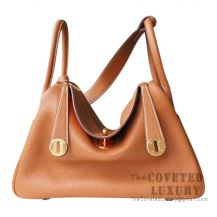 Hermes Lindy 30 Bag CC37 Gold And S5 Rouge Tomate Clemence GHW