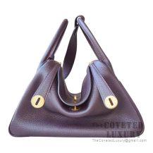 Hermes Lindy 30 Bag CC59 Raisin Clemence GHW