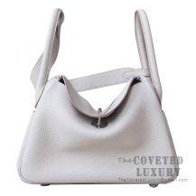 Hermes Lindy 30 Bag CC80 Pearl Grey Clemence SHW