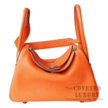 Hermes Lindy 30 Bag CC93 Orange Clemence SHW
