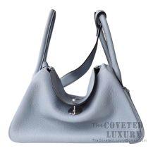 Hermes Lindy 30 Bag J7 Bleu Lin Clemence SHW