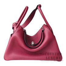 Hermes Lindy 30 Bag K1 Rouge Grenat Clemence GHW