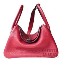 Hermes Lindy 30 Bag K1 Rouge Grenat Clemence SHW