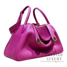 Hermes Lindy 30 Bag L3 Rose Purple Clemence GHW