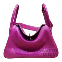 Hermes Lindy 30 Bag L3 Rose Purple Clemence SHW