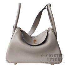 Hermes Lindy 30 Bag M8 Gris Asphalt Clemence GHW