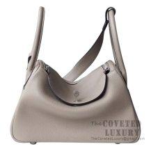 Hermes Lindy 30 Bag M8 Gris Asphalt Clemence SHW