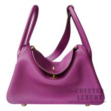 Hermes Lindy 30 Bag P9 Anemone Clemence GHW