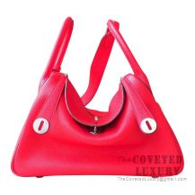 Hermes Lindy 30 Bag S5 Rouge Tomate Clemence SHW