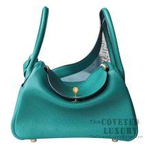 Hermes Lindy 30 Bag U4 Vert Vertigo Clemence GHW