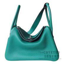 Hermes Lindy 30 Bag U4 Vert Vertigo Clemence SHW
