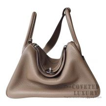 Hermes Lindy 30 Bag CC18 Etoupe Clemence SHW