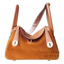 Hermes Lindy 30 Bag CC37 Gold Grizzly And Swift GHW