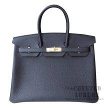 Hermes Birkin 35 Bag 89 Noir Togo GHW