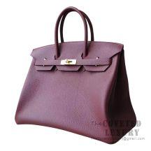 Hermes Birkin 35 Bag CC55 Rouge H Togo GHW