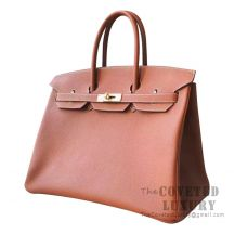Hermes Birkin 35 Bag CK37 Gold Togo GHW